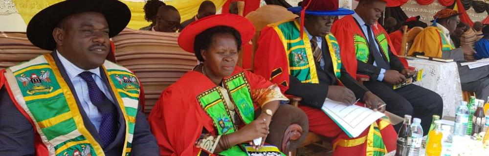 UBTEB ES DURING THE GRADUATION CEREMONY AT UCC SOROTI